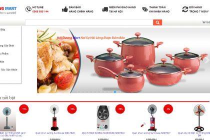 Thiết kế website bán đồ gia dụng giá rẻ tại Thủ Đức