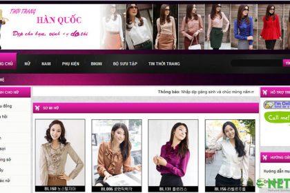 Thiết kế website bán quần áo thời trang giá rẻ tại Thủ Đức