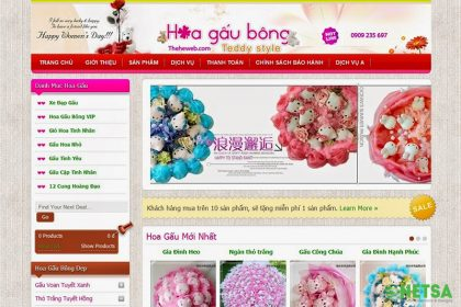 Thiết kế web bán gấu bông, thú nhồi bông tại Thủ Đức
