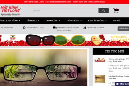 Thiết kế website bán mắt kính, shop mắt kính